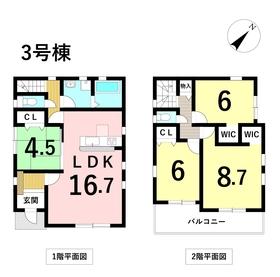 名古屋市中川区野田2丁目19-2期 全3棟 新築一戸建て 3号棟
