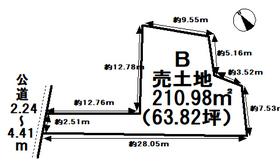 津島市中一色町市場 全4区画 B号地 建築条件なし土地