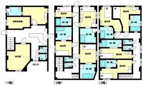 【間取り】 収益物件!現在空室中のため、見学できます!商業地域、3階建て!お気軽にお問い合わせください♪