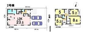 あま市中萱津道場 全4棟 2号棟 新築一戸建て