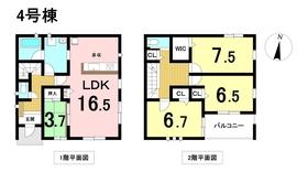 クレイドルガーデン名古屋市港区魁町 第5 全4棟 4号棟 新築一戸建て