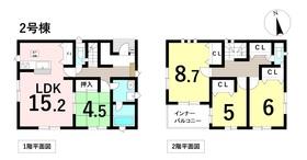 クワイエ 名古屋市中川区澄池町 全4棟 2号棟 新築一戸建て