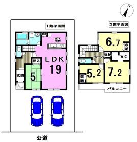 リーブルガーデン津島市中一色町市場 全1棟 新築一戸建て
