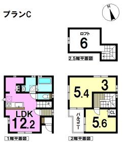 デュープレジデンス名古屋市南区桜本町駅 全5棟 CTYPE 新築一戸建て