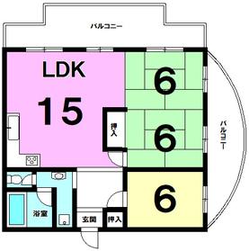 【間取り】 オーナーチェンジ物件!現在賃貸中の3LDK!駐車場1台10,000円。専有面積:68.28平米。