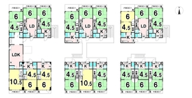 【間取り】 土地面積251.00㎡/75.92坪の2棟一括売マンションです♪