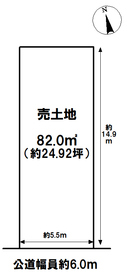 名古屋市南区弥生町 建築条件なし土地