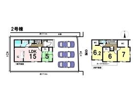 あま市西今宿狐海道二19-1期 全2棟 2号棟 新築一戸建て