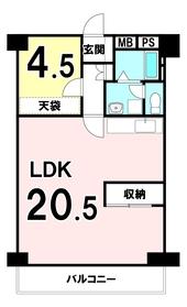 【間取り】 専有面積56.72㎡・バルコニー面積6.49㎡の売マンションです♪