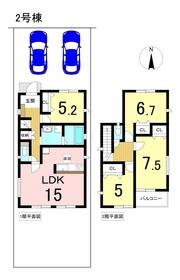 グラファーレ名古屋市港区川園 全2棟 2号棟 新築一戸建て