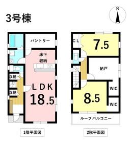 リナージュ名古屋市中川区大当郎3丁目20-1期 3号棟 全3棟 新築一戸建て