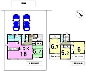グラファーレ海部郡蟹江町大字須成 全3棟 2号棟 新築一戸建て