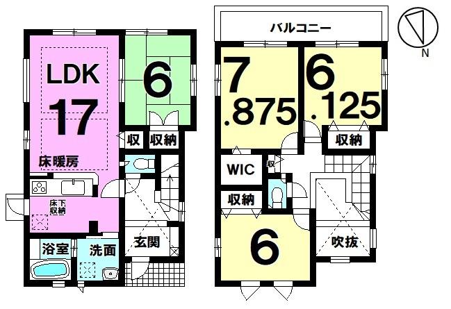 【充実した機能で快適な暮らしを実現】全居室6帖以上のゆとりある4LDK新築戸建
