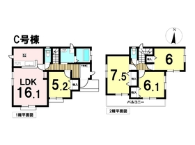 ○大治町西條坂牧島 全6棟 C号棟 新築一戸建て