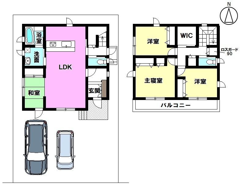 土地面積 130.45㎡ 建物面積 99.17㎡ 4LDK 駐車場2台