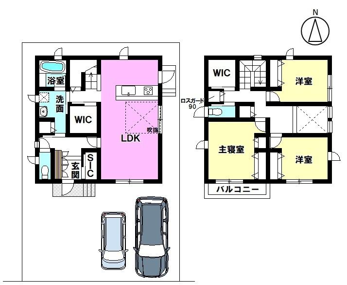 土地面積 131.29㎡ 建物面積 103.31㎡ 3LDK 駐車場2台