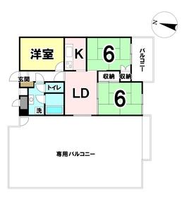 【間取り】 専有面積53.87㎡!中古マンションのオーナーチェンジ物件です!