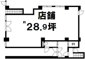 【間取り】 【売店舗】空室!専有面積:95.56平米!ミニキッチン・トイレ付!モノレール牧志駅・美栄橋駅徒歩圏内