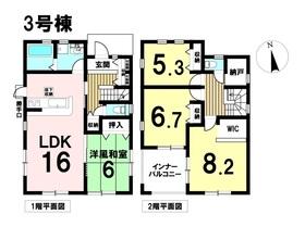 ○あま市方領北浦 全4棟 3号棟 新築一戸建て