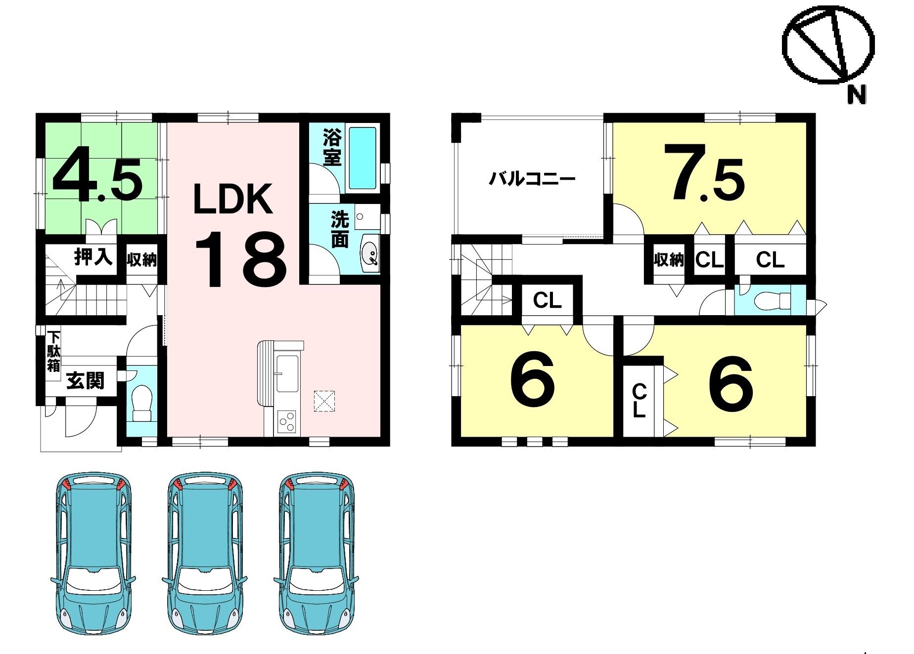 耐震・制震を兼ね揃えたQUIEの家 広々駐車3台可能 スーパー徒歩4分 お買い物施設充実の環境