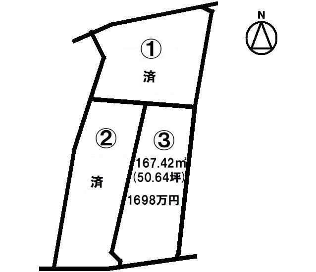 建築条件なし 南向き 草津駅直通バス停2分 分譲地 約50坪 こども園・ロクハ公園徒歩5分圏内