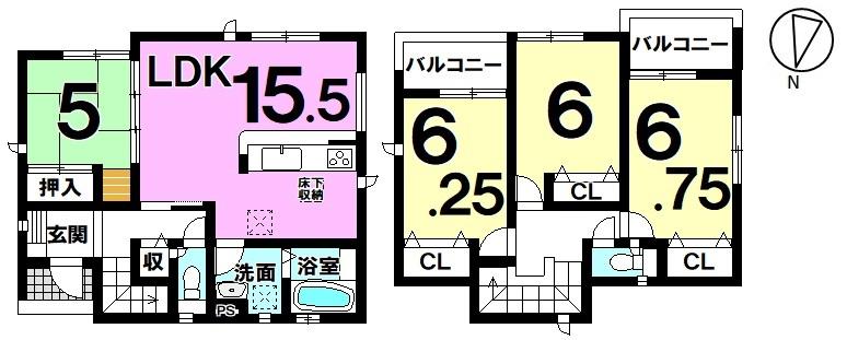 【新築戸建・全3区画】全居室に収納がありスッキリ広々な居住空間で快適な暮らしが実現♪