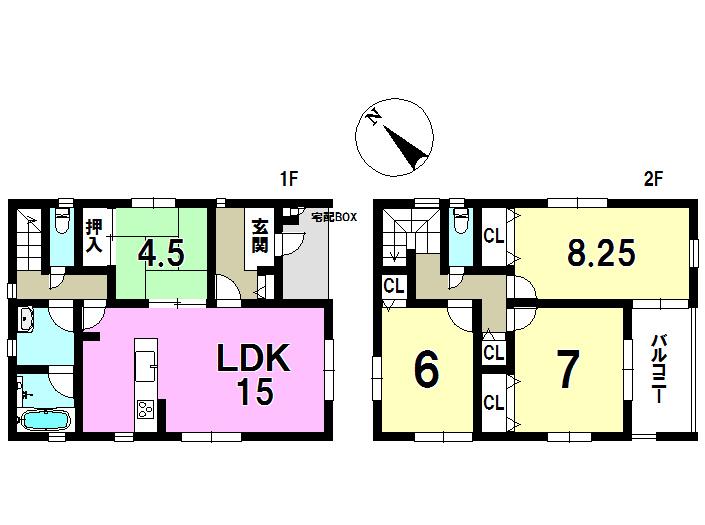 1号棟 土地160.73㎡ 建物104.08㎡ 4LDK