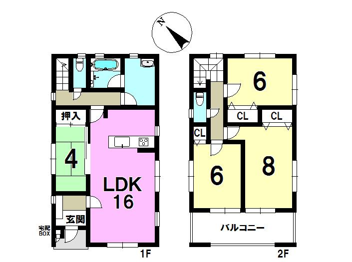 2号棟 土地面積160.65㎡ 建物105.30㎡ 4LDK