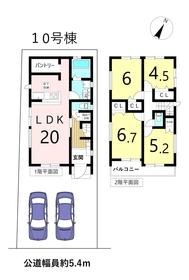 グラファーレ名古屋市港区稲永4期 全14棟 10号棟 新築一戸建て