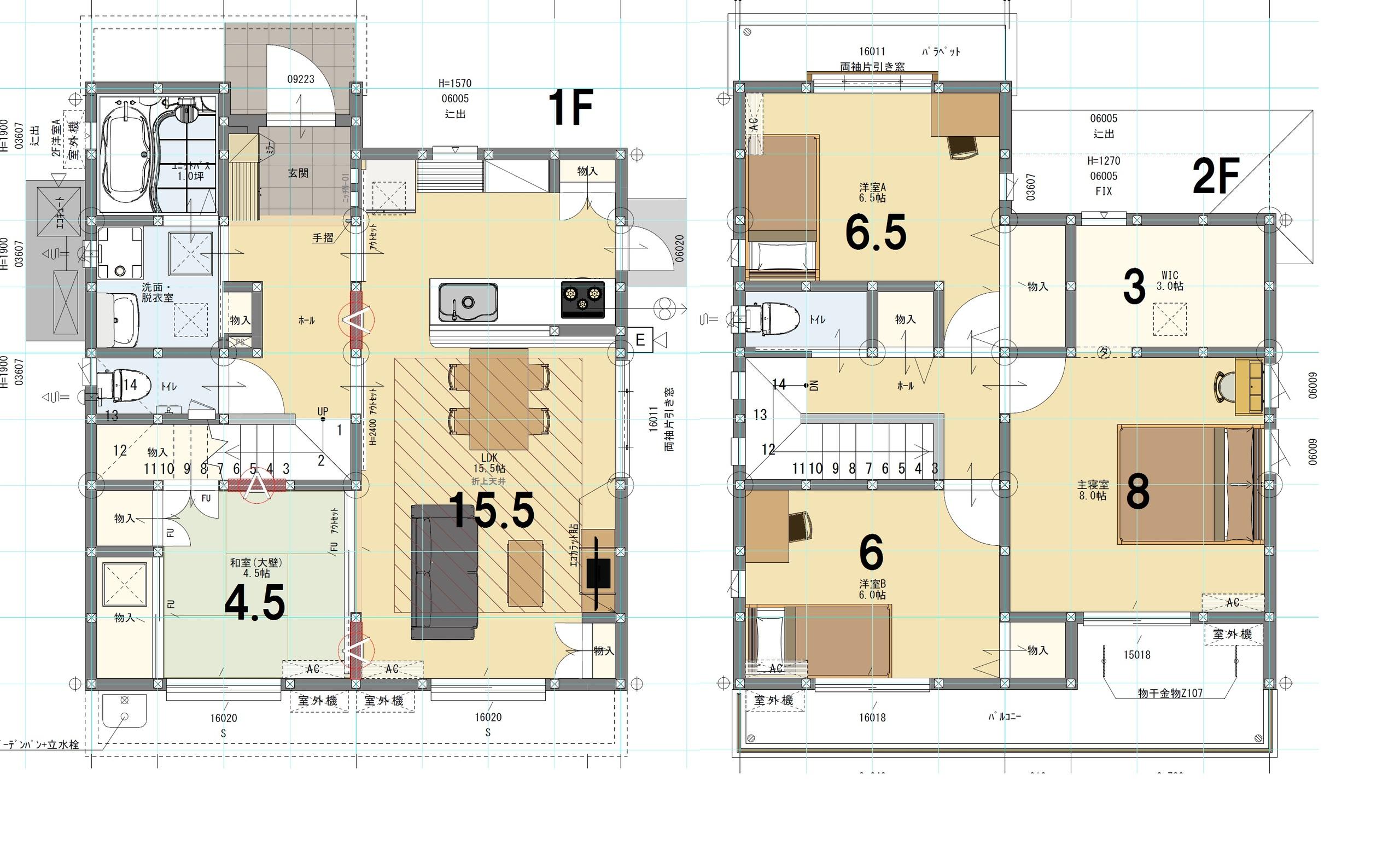 ⑦号棟 4LDK+S 土地面積225.31㎡ 建物面積106.01㎡