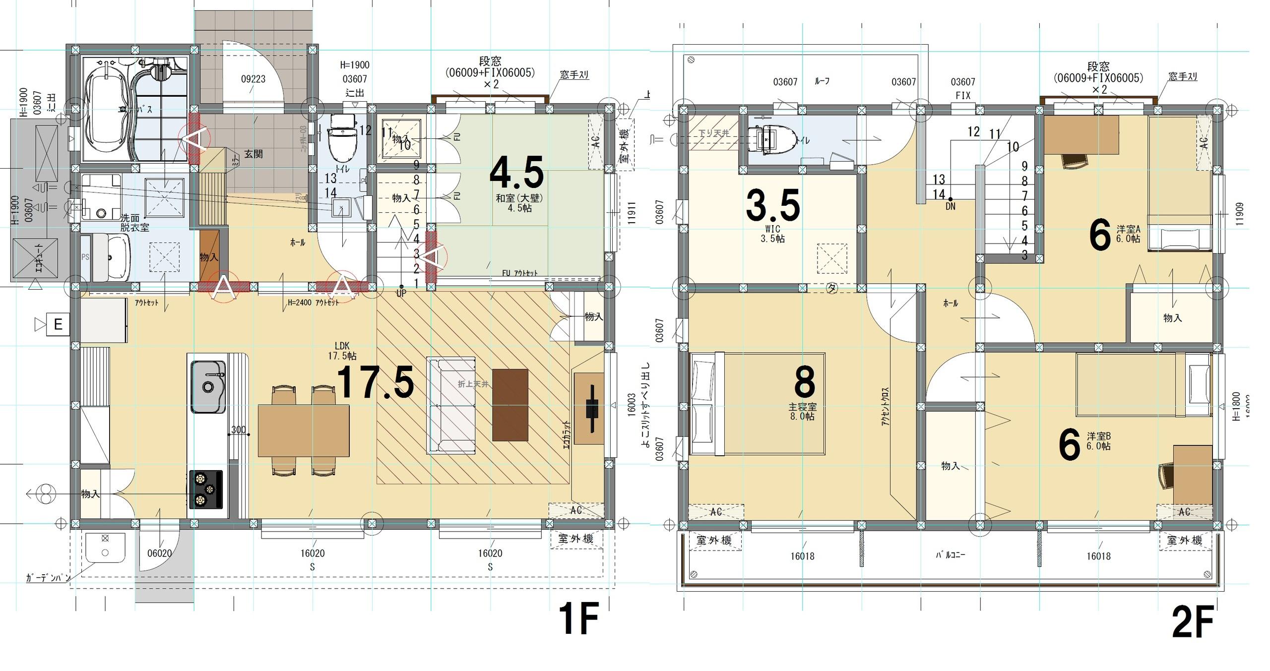 ⑨号棟 4LDK+S 土地面積225.36㎡ 建物面積106.00㎡