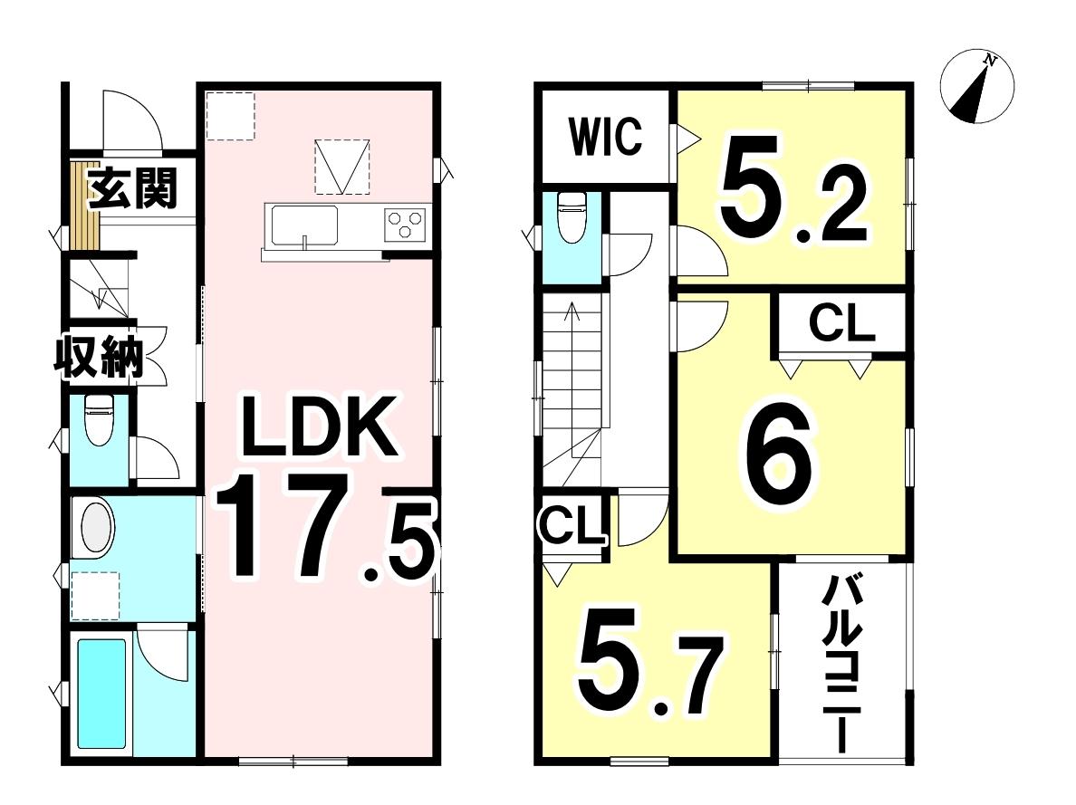 敷地面積 110.23㎡ 延床面積 82.62㎡ 3LDKです♪