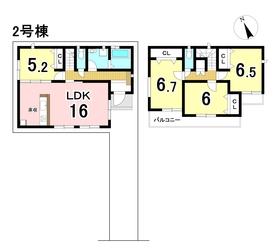 グラファーレ 名古屋市南区戸部町3丁目 全2棟 2号棟 新築一戸建て