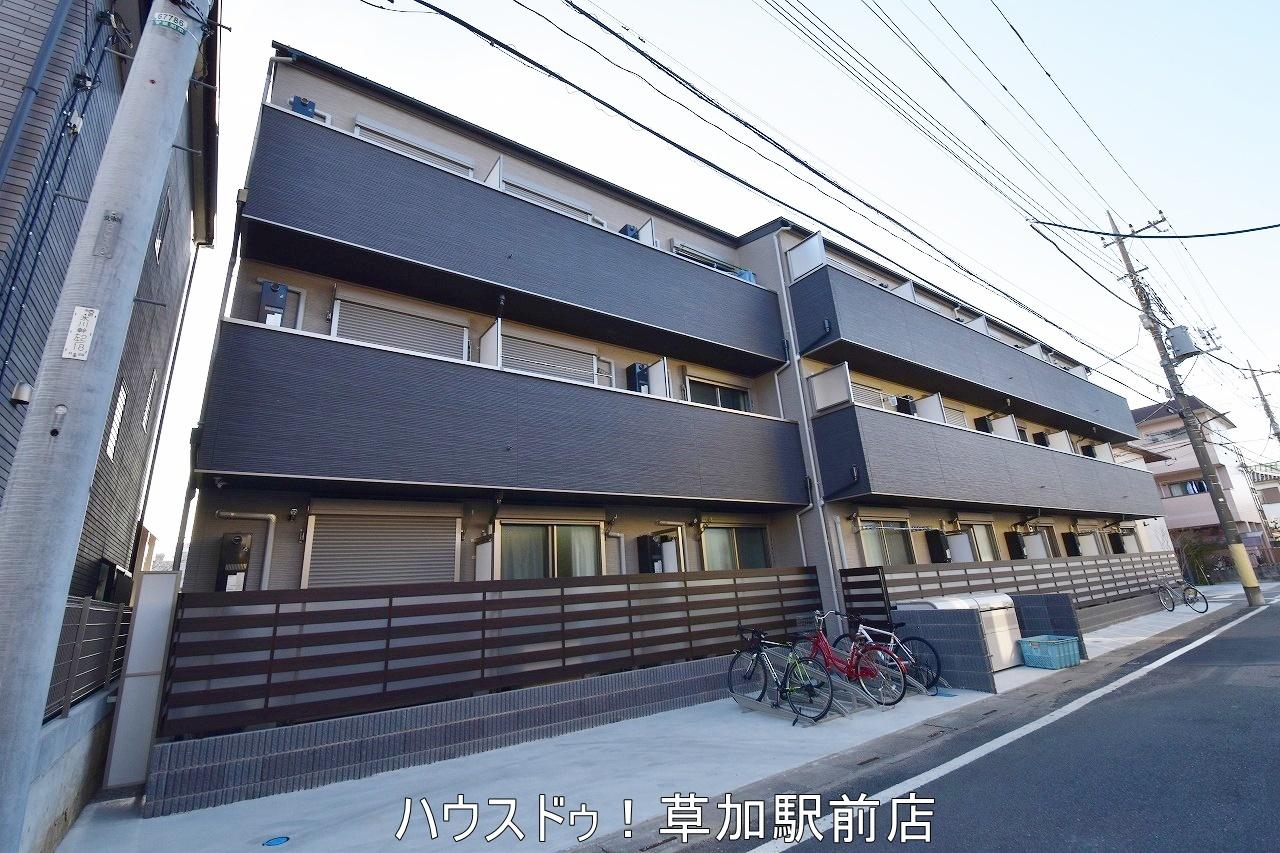 草加中学校(300m)まで徒歩4分!