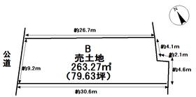 津島市中一色町市場 全3区画 B号地 建築条件なし土地