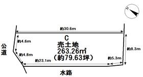 津島市中一色町市場 全3区画 C号地 建築条件なし土地