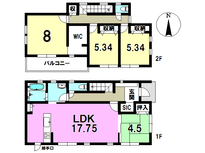4号棟 4LDK+S 土地面積201.81㎡ 建物面積106.00㎡