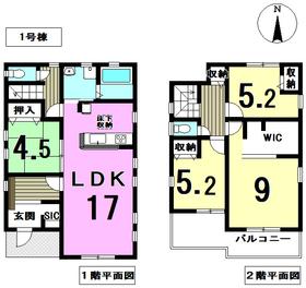 リーブルガーデン稲沢市込野町第2 全2区画 1号棟 新築一戸建て