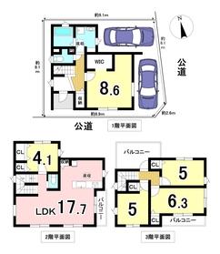 ケイアイフィット名古屋市南区桜台2丁目 全1棟 新築一戸建て