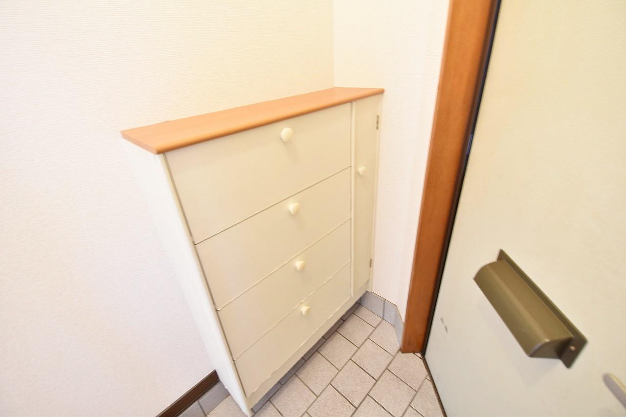 玄関にはシューズボックスも設置されています♪ 靴が仕舞えてスッキリ見えますね(^^♪