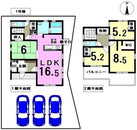 リーブルガーデン愛西市諸桑町 全2棟 1号棟 新築一戸建て
