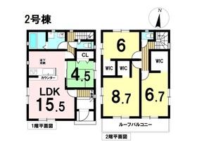 リナージュ弥富市鯏浦町19-1期 全3棟 2号棟 新築一戸建て