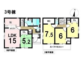リナージュ弥富市鯏浦町19-1期 全3棟 3号棟 新築一戸建て