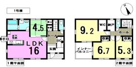 ○リーブルガーデン愛西市日置町 全2棟 1号棟 新築一戸建て