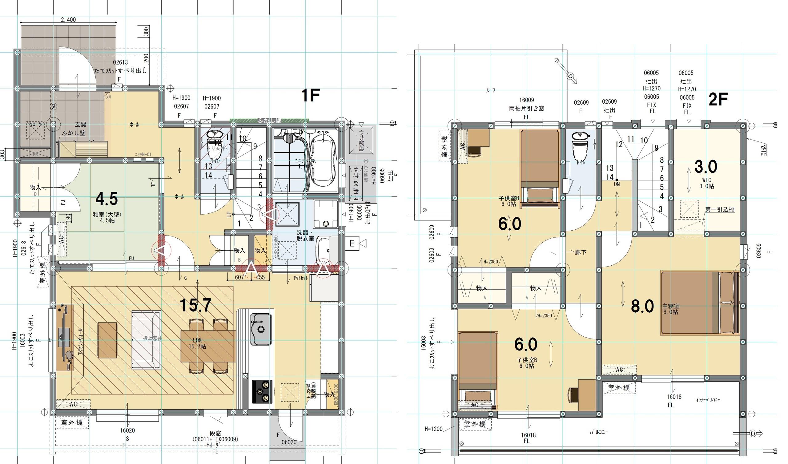 6号棟 4LDK+S 土地面積220.72㎡ 建物面積108.06㎡