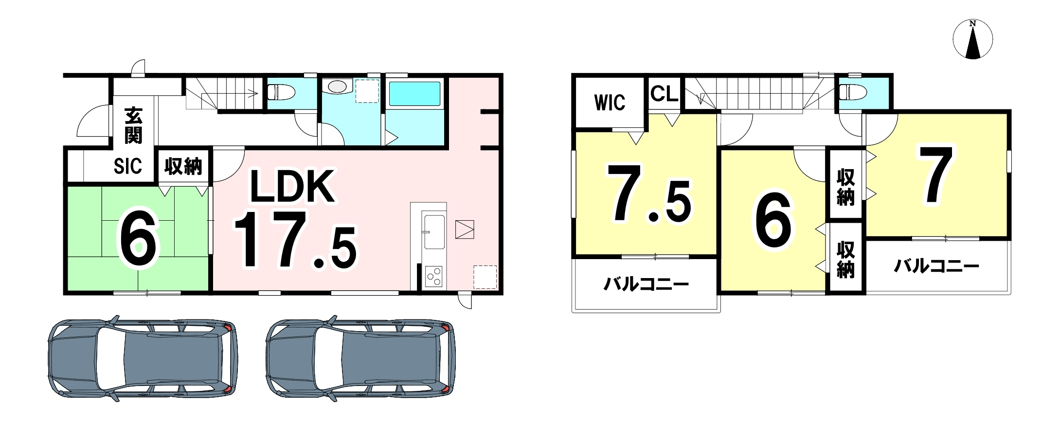 土地面積 120.11㎡ 建物面積 105.98㎡ 4LDKです♪