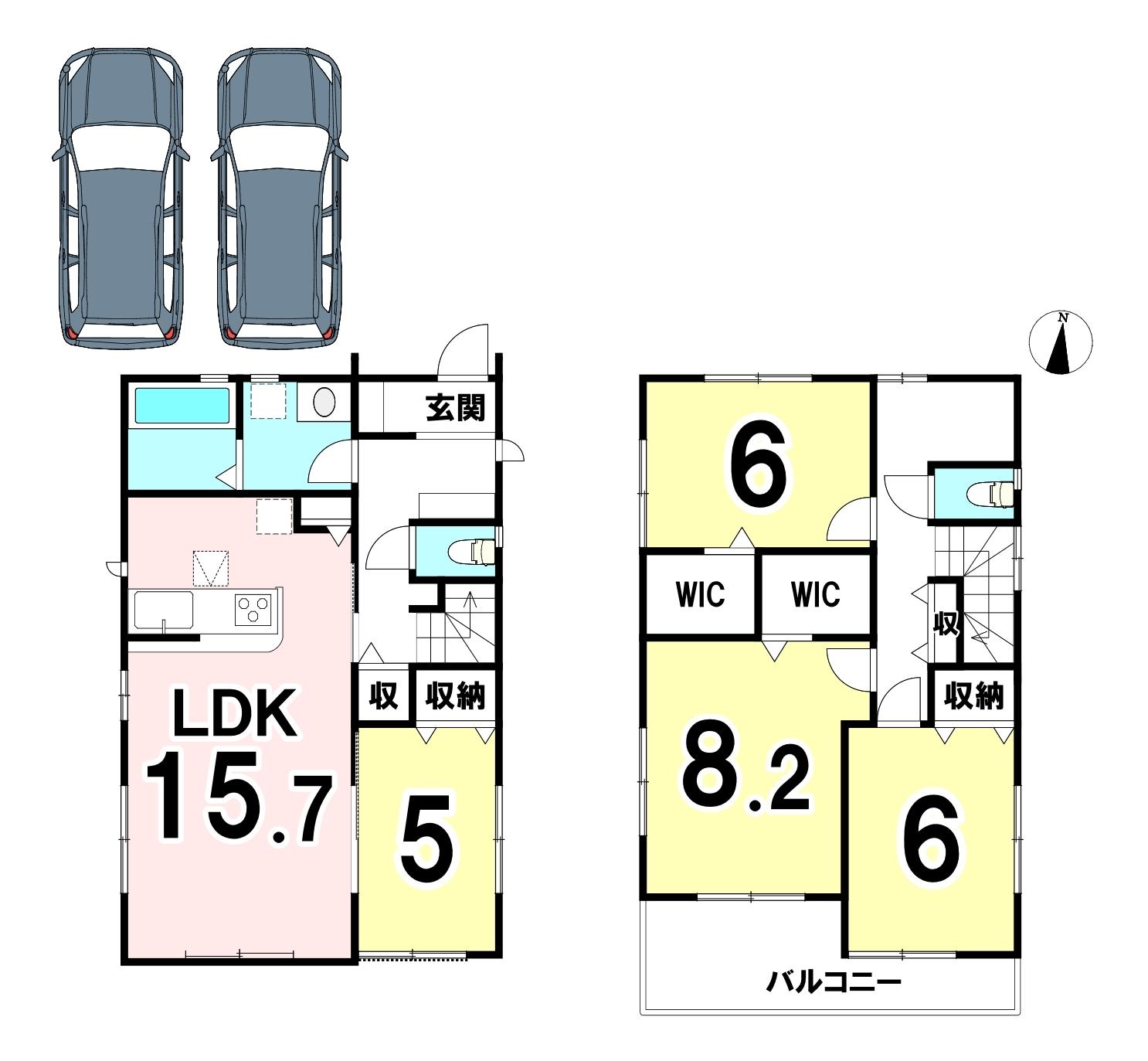 土地面積 121.36㎡ 建物面積 105.78㎡ 4SLDKです♪
