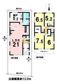 ○ケイアイフィット中川区吉津1丁目 全1棟 新築一戸建て