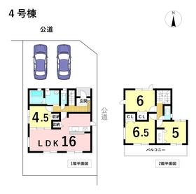 グラファーレ名古屋市港区宝神13期 全5棟 4号棟 新築一戸建て