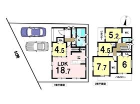 中村区城屋敷4丁目1期 全2棟 2号棟 新築一戸建て